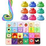 Weneye Cotton Mud, Fluffy Slime, DIY Slime Set, No Sticky Fluffy Slime Stress Reliever Toys para niños y Adultos, DIY Toys, Party Birthday Gifts