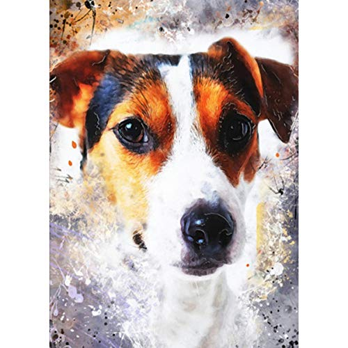 Diamonds 5D Diamond Painting Kit Diamante Ornaments Dog 5D Diamond Art DIY Rhinestone Embroidery on The Canvas Pictures Set Cross Stitch Arts Craft for Adults for Home 30x40 cm