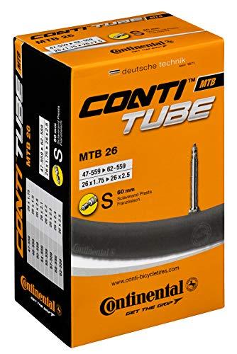 Continental MTB 26 x 1.75 - 2.5 inch Presta 60 mm long valve Inner Tube