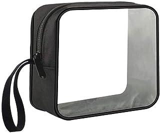 Beauty case trasparente 24*9*15CM dimensioni: 24 cm x 9 cm x 15 cm Pink motivo floreale n/écessaire per accessori bagno o biancheria Haodou portatile