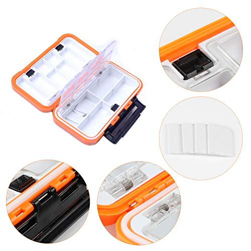 REAWOW 16 Compartment Waterproof Portable Fishing Tackle Box Storage And Set Plastic Small-Lure-Case Fishing-Accessories Boxes Storage Containers Double-sided
