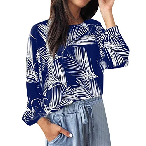 Buy Discount Lovor Women's Blouse Sale Plus Size Casual Long Sleeve Print Crewneck Tops Tee Shirt He...