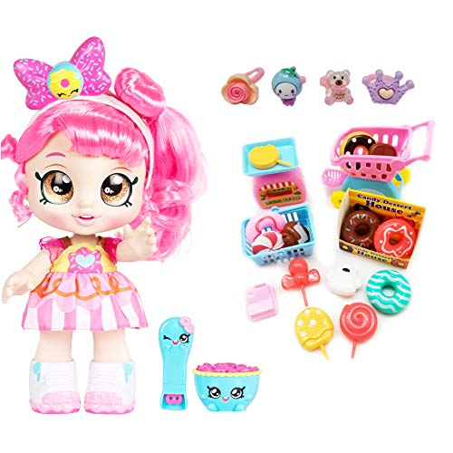 Kindi Kids Snack Time Friends, Pre-School 10' Doll - Donatina - Simple Joy Toys Gift Set