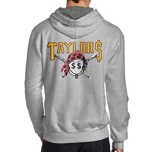 Taylor Gang Taylors Smiley Pirate Face Men's Hooded Graphic Hoodies Vintage Hooded Sweatshirts Gray,Medium