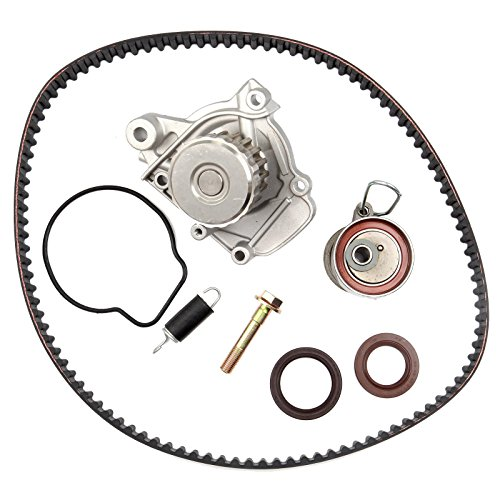 ECCPP Engine Timing Belt Water Pump Kit for 2001-2005 Honda Civic GX DX LX VP EX HX 1.7L D17A1 D17A2 D17A6 D17A7 L4 SOHC 16V