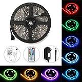Dazone LEDテープ 防水 SMD5050 5M 150連 高輝度 切断可能 間接照明 装飾用 正面発光ledテープライト 12V電源 44キーリモコン付 明るいライト