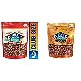 Blue Diamond Almonds, Smokehouse, 40 Ounce (Pack of 1) & Bold Habanero BBQ Almonds, 25 Ounce