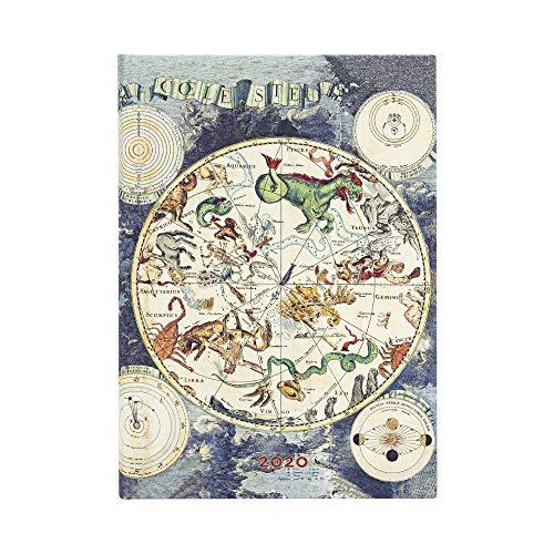 PAPERBLANKS 12-Monatskalender 2020 Himmlische Karte | Tagesüberblick | Midi (130 × 180 mm) DI6008-6