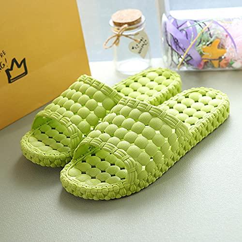 LLGG Zapatos de Playa y Piscina,Zapatillas Antideslizantes con Fugas de Agua, Arena de PVC de plástico Suave-Verde limón_38-39,Zapatillas sin Cordones para Mujer/Hombre