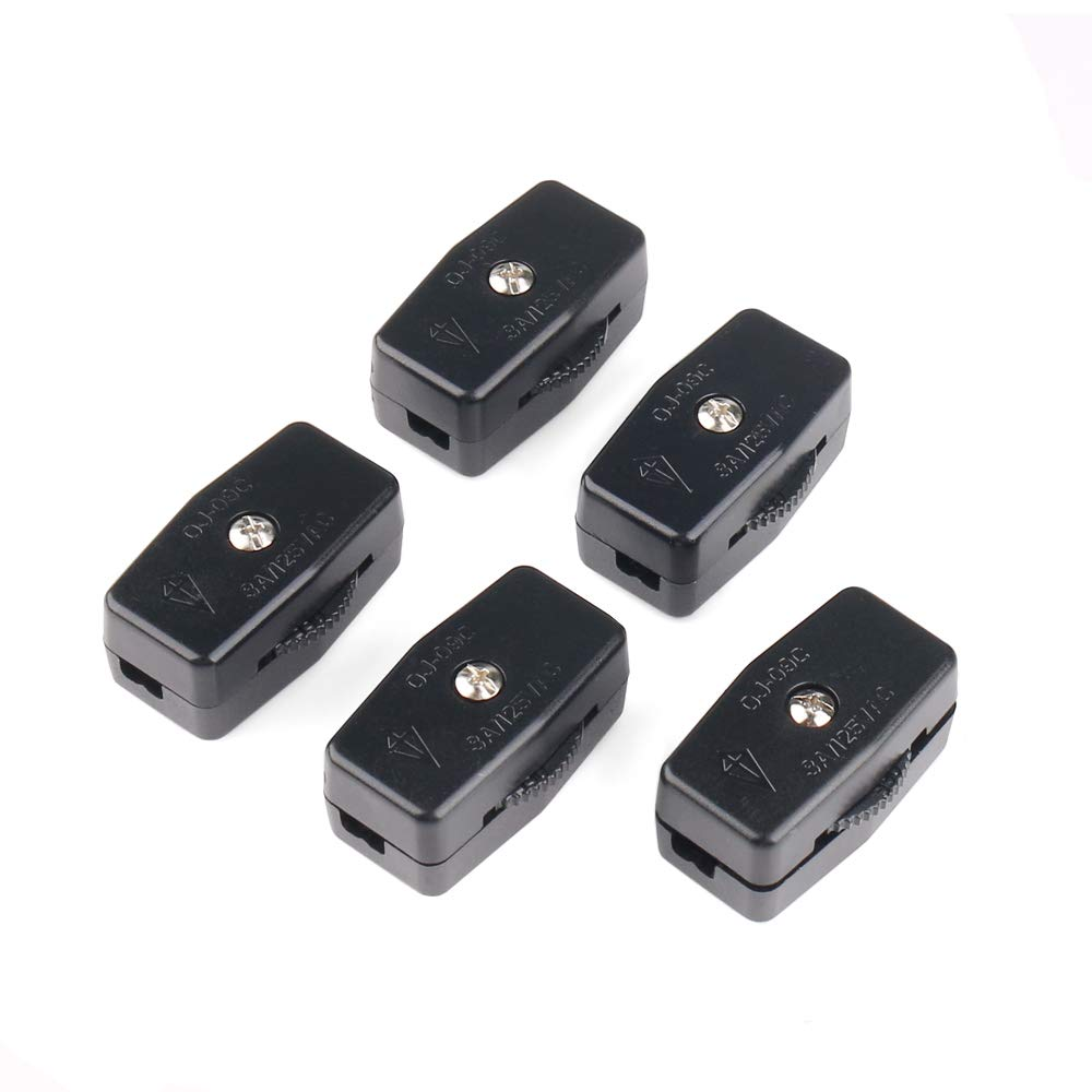 inline switch amazon comurbest 5pcs black ac 125v 3a compact thumbwheel actuator lamp inline switch