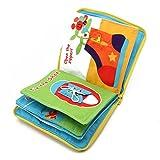 AERVEAL Livre d'apprentissage pour bébé, Livre en Tissu bébé Enfants développement de l'intelligence Jouets d'apprentissage éducatifs