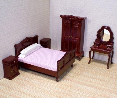 Melissa & Doug 12583 - Mobili per Casa di Bambole, Set per Camera da Letto