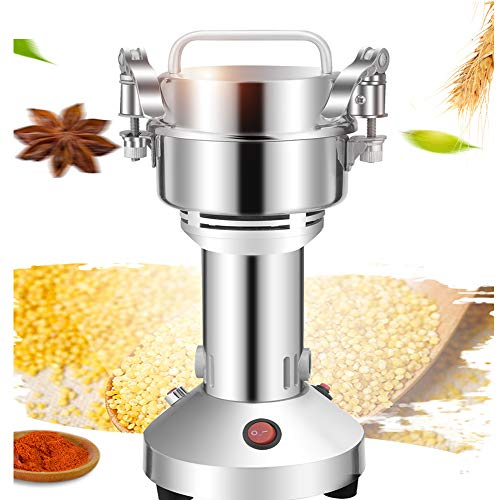 Electric Grain Mills Grinder DAMAI 150g Stainless Steel High-speed Family Medical Powder MachineCommercial Cereals Grain Mill Herb Grinder Pulverizer 110v Gift for Mom, Wife