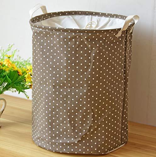 Nordic Einfache Stil Schmutzige Kleidung Stehen Lagerung Hämmer, Wäschekorb Lagerung Leinen Schmutzige Barrel Falten Spielzeugkorb für Badezimmer Schlafzimmer Haus, 35 * 45 cm