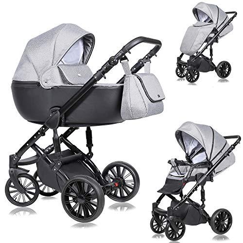SaintBaby Kinderwagen Prado 2in1 3in1 Isofix Babyschale Kombikinderwagen Buggy Silver Star 04 2in1 ohne Babyschale