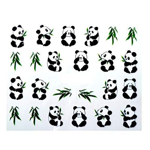 New Fancy Panda Tips Nail Tools Nail Art Water Transfer Design Nails Sticker/Decals