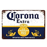 HISIMPLE Corona Extra Beer Poster Cover Wall Decor Metal