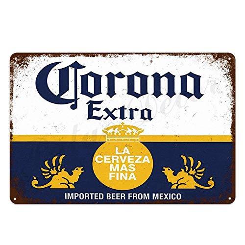 HISIMPLE Corona Extra Beer Poster Cover Wall Decor Metal Sign Vintage Pub Bar WC Home Beach Wohnzimmer Dekoration Blechschilder