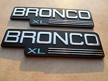 92-96 FORD BRONCO XL SIDE FENDER F4TB-16B114KA LOGO F4TB-16B114-AA EMBLEM F4TB-16B114-KA SET OF 2 DECALS