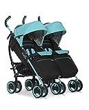 Kinderwagen Duo Comfort MALACHITE für Geschwister / Zwillinge - Spazierwagen - Buggy aus Aluminium - neues Modell 2016