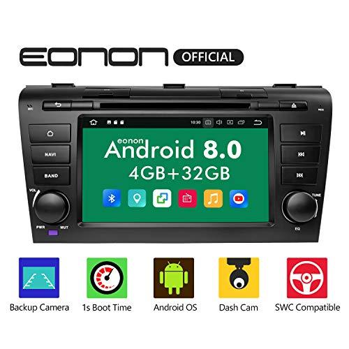 Eonon Autoradio 17,8 cm (7 Zoll) Android 8.0, 32 GB ROM, GPS-Navigationsgerät, kompatibel mit Mazda 3 (2004–2009), unterstützt Bluetooth, WiFi-Verbindung - GA9151B