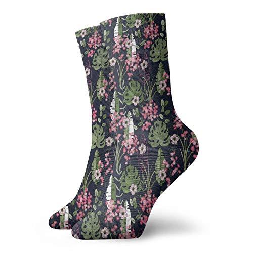 FULIYA Soft Calf Length short SocksRetro Geometric Pattern With Whirlpool Rounded Shapes,Socks Women and Men Best for...