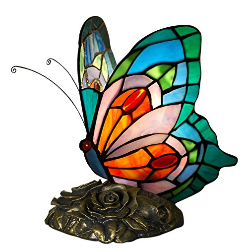 World Art TW60001 Lampes Style Tiffany Papillon, 21, 5x15x17 Cm