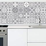 Purbeck Stone Tile Stickers Muraux Auto-Adhésif Peel And Stick Carrelage Cuisine Salle De Bains Dosseret Splashback DIY Stickers Carreaux de Ciment Peinture Mur Carrelage Autocollant-15 cm-24pcs