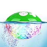 Waterproof Portable Bluetooth Speaker,Blufree Wireless Shower Speaker with Light Show,Built-in Mic,50ft Wireless Range,IPX7,Loud Stereo Sound Outdoor Speakers for Sports Travel Camping Home Party Pool