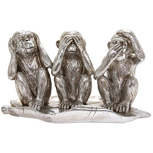 Lesser & Pavey Silver Art Three Wise Monkey Ornament Animal Statue Figurine