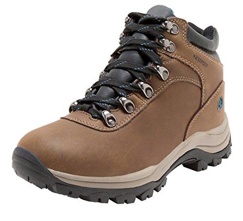 Northside Women's Apex Lite Waterproof Hiking Boot, Medium Brown/Teal, 9 M US
