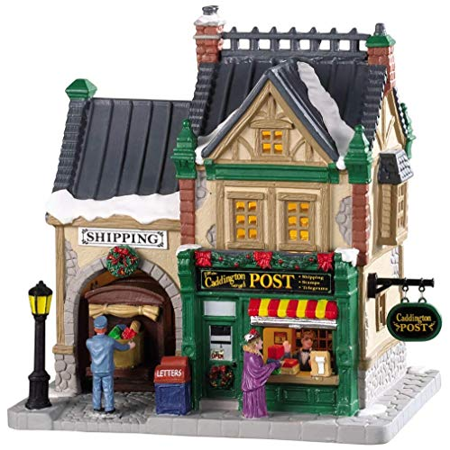 LEMAX Christmas Village Collection - Caddington Post - Porcelain Christmas Village Post Office