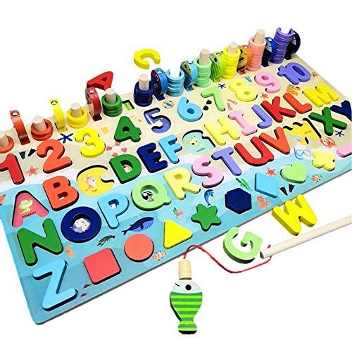 Tianxiu Holz Nummer Puzzle Montessori...