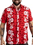 Meats in The Sun | Funny BBQ Grilling Hawaiian Button Down Polo Party Shirt Men-(Collar,XL)