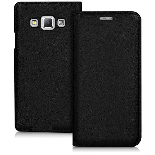kwmobile Hülle kompatibel mit Samsung Galaxy A3 (2015) - Handy Case Handyhülle - Schutzhülle Klapphülle in Schwarz