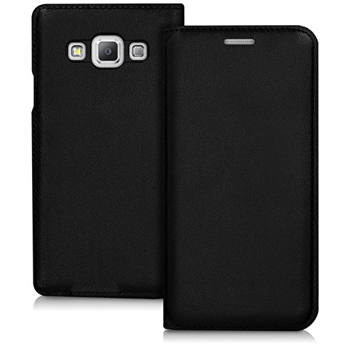 kwmobile Funda Compatible con Samsung Galaxy A3 (2015) - Carcasa con Tapa Tipo Libro - Case Protector en Negro