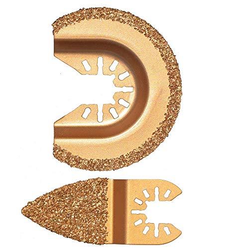 Nicejoy Oscilante Multi Herramienta de Diamante Segmento oscilación Grout carburo Multifuncional para Cemento Pulido 2pcs Grit molienda de Oro para el hogar