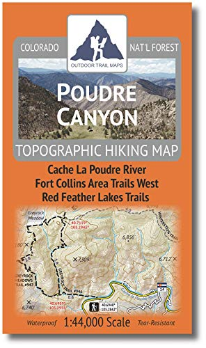 Outdoor Trail Maps Poudre Canyon - Colorado Topographic Hiking Map (2020)