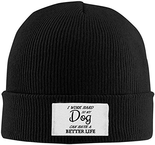 azalea store Ich arbeite hart, Mein Hund kann EIN besseres Leben haben Strickmütze Beanie Cap Classic Black