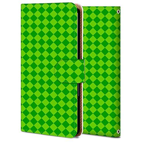 Galaxy S20 plus 5G ケース 手帳型 ギャラクシー S20 plus 5G SCG02 カバー スマホケース おしゃれ かわいい 耐衝撃 花柄 人気 純正 全機種対応 WX007-緑の斜め広場 クラシック シンプル アニマル 9852557