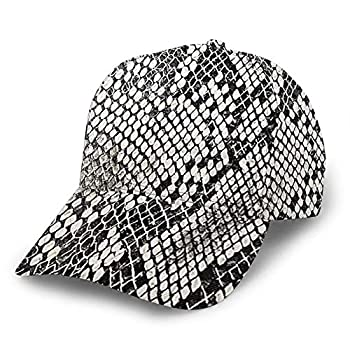Dad Hat Snake Skin Texture Baseball Cap Adjustable Classic Sport Casual 3D Print for Men Women Hat 2019 Black