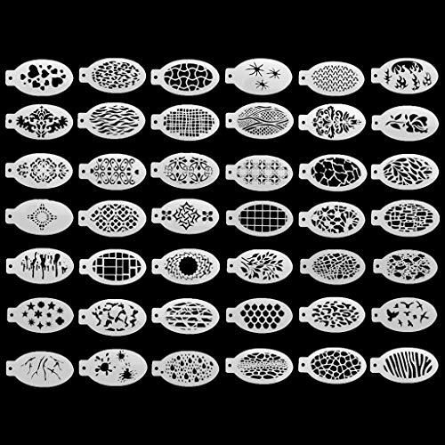 Haorw Plantilla de Dibujo, 42 Piezas de Plantillas de Mandala, Manualidades de Bricolaje, Plantilla de Dibujo para Pintura de Rocas, álbum de Recortes, Tarjeta de Papel en Relieve, álbum Decorativo