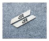 LIZCX 2 Piezas de Llave Asiento de elevación del Asiento postizo de guarnición for VW Golf 4 5 Jetta MK4 Passat TOURAN MK5 GTI R32 ETI SR (Color : Black R)