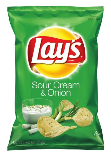 Lay's Potato Chips, Sour Cream and Onion, 9.5 Ounce