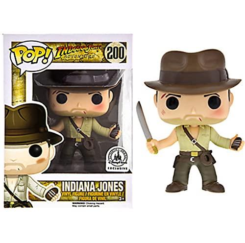 Funko Pop Raiders of The Lost Ark Kawaii Q Versión Figura De Anime Indiana Jones Cuchillo Pequeño Figuras De Acción De Vinilo Pop En Caja Juguete De 10 Cm, Colección De Decoración De Juguetes para