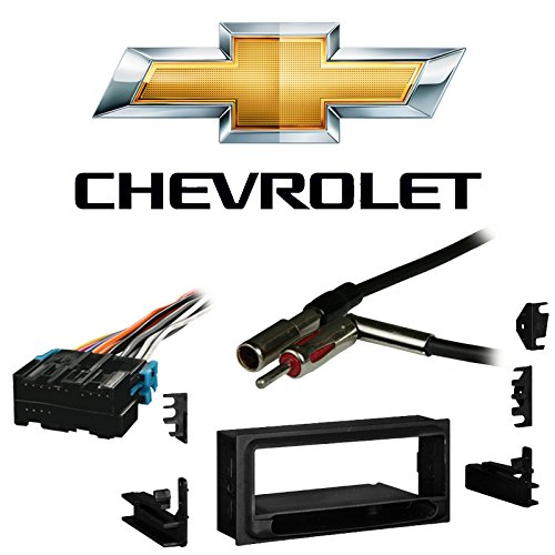 Compatible with Chevy S 10 Pickup 1998 1999 2000 2001 Single DIN Stereo Harness Radio Install Dash Kit Package