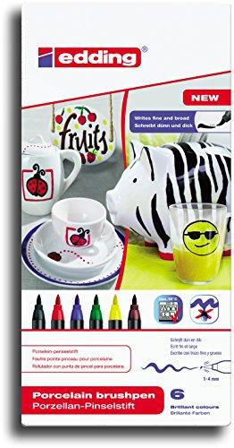 edding 4200 Porzellan-Pinselstift edding 4200, 1 - 4 mm (Grundfarben)