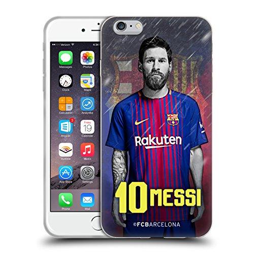 Head Case Designs Oficial FC Barcelona Lionel Messi 2017/18 First Team Group 1 Carcasa de Gel de Silicona Compatible con Apple iPhone 6 Plus/iPhone 6s Plus