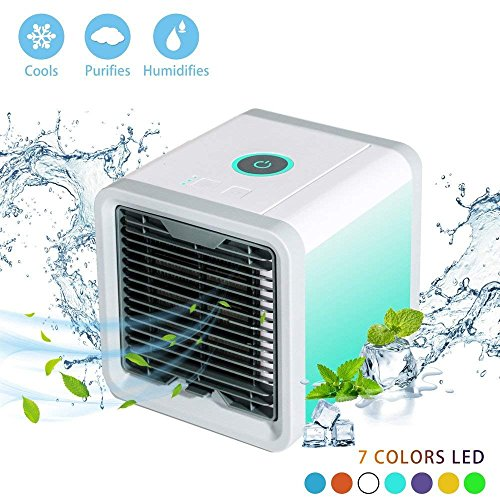 Small Air Conditioner Air Cooler Humidifier Fan Portable USB Charging