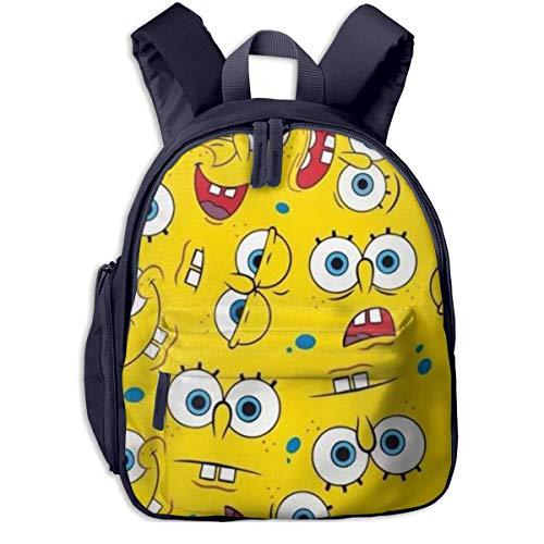 Hdadwy Bob Esponja Expressions Collection Mochila Escolar, Cool Boy Girl Universal Canvas Bag Travel Bag